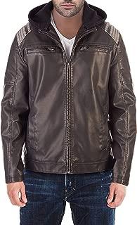 Best hoodie leather jacket mens Reviews