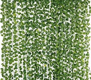 Yatim 78-Ft 12 Pack Silk Artificial Ivy Vines Leaf Garland Plants Hanging Wedding Garland Fake Foliage Flowers Home Kitche...