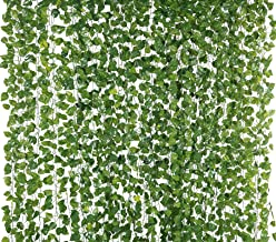 Yatim 78-Ft 12 Pack Silk Artificial Ivy Vines Leaf Garland Plants Hanging Wedding Garland Fake Foliage Flowers Home Kitche...