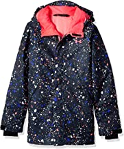 Under Armour Outerwear Youth Girls Cold Gear Infrared Power Line Ins Jacket, Black/Penta Pink, Small