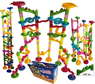 Marble Run Coaster 106 BIG Elements Kit 76 Blocks+30 Plastic Marbles. Tracks length 194