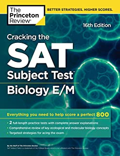 Cracking the SAT Subject Test in Biology E/M, 16th Edition: Everything You Need to Help Score a Perfect 800 (College Test Preparation)
