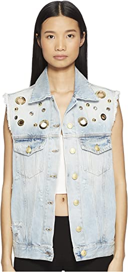 Pierre Balmain - Studded Denim Vest