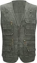 Alipolo Vest Mens Summer Cotton Leisure Outdoor Plus Size Fish Vest