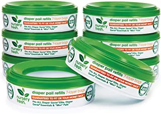 Nursery Fresh Refill for Diaper Genie and Munchkin Diaper Pails, 2,176 Count, 8 Pack