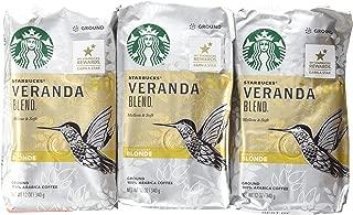 Starbucks, Blonde Roast, Veranda Blend, 12oz Bag (Pack of 3)