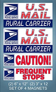 Mail 9 x 12 USPS Sticker Decals 9 x 12 USPS Sticker Decals Safety Supply Mart Rural Delivery Vinyl Sign for U.S