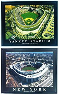Framed NY Yankee Stadium Old and New Prints - SET OF 2