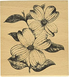Hampton Art Cam & Chloe Dogwood Flowers Mounted Stamp, 4 x 3.5