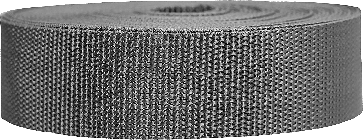 Strapworks Heavyweight Polypropylene Webbing - Heavy Duty Poly Strapping for Outdoor DIY Gear Repair, 1.5 Inch by 10, 25, or 50 Yards, Over 20 Colors