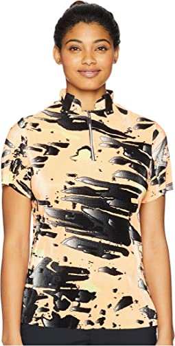 Meteorite Print Short Sleeve Top