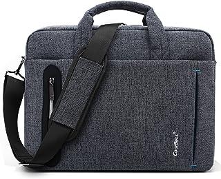 CoolBELL 15.6 inch Laptop Bag Messenger Bag Hand Bag Multi-compartment Briefcase Oxford Nylon Shoulder Bag For Laptop/Ultrabook/HP/Acer/Macbook/Asus/Lenovo/Men/Women, Grey