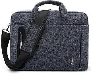 CoolBELL 17.3 inch Laptop Bag Messenger Bag Hand Bag Multi-compartment Briefcase Oxford Nylon Shoulder Bag For Laptop/Ultrabook/HP/Acer/Macbook/Asus/Lenovo/Men/Women (New Grey)