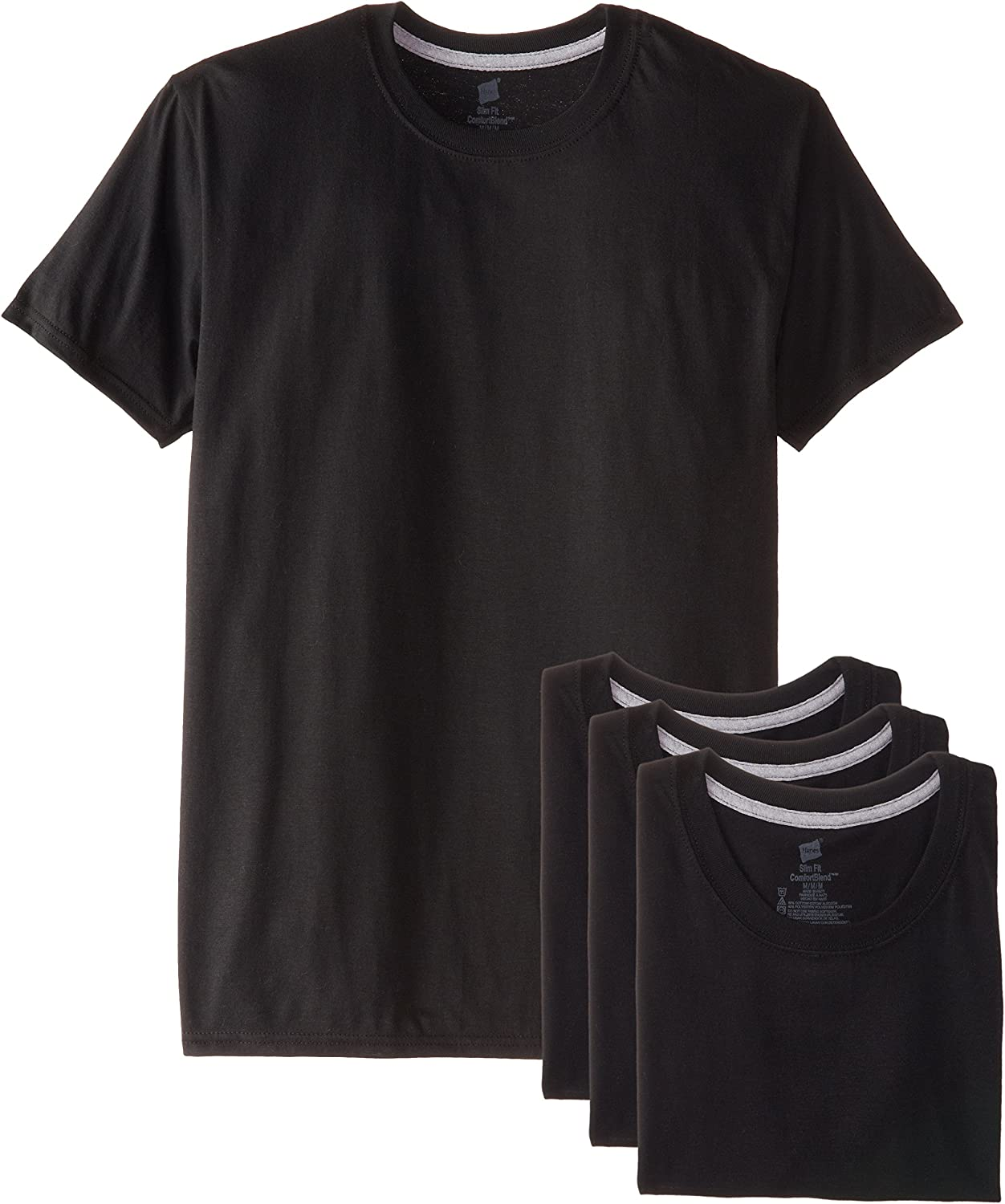 Hanes Ultimate Men's Slim Fit Crew Neck Undershirts, 4-Pack at  Men's Clothing store