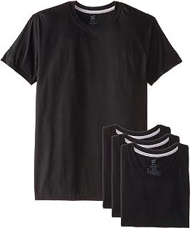 قمصان داخلية Hanes Ultimate للرجال ضيقة ورقبة مستديرة ، عبوة من 4 قطع