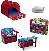Nick Jr. PAW Patrol 4-Piece Toddler Bedroom Set by Delta Children   Set Includes: Sleep and Play Tent Toddler Bed, Deluxe ...
