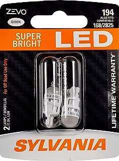 SYLVANIA ZEVO 194 T10 W5W White LED Bulb, (Contains 2 bulbs)