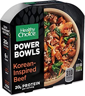 Healthy Choice Power Bowls Frozen Dinner, Korean-Inspired Beef Bowl, 9.5 Ounce
