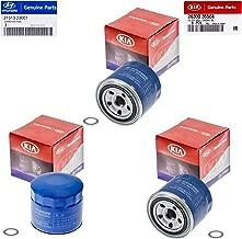 Set Of 3 Genuine OEM For Hyundai Oil Filter 26300-35504 and Plug Gasket 21513-23