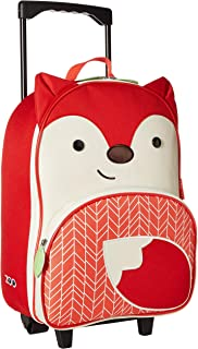 Skip Hop Skip Hop Kids Luggage with Wheels, Fox, Red, Orange, White