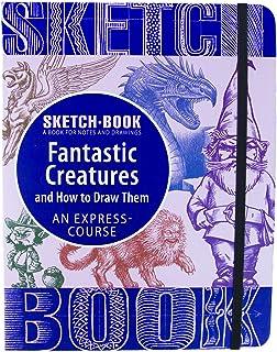 """دفتر رسم - لوحة رسم مجدولة حلزونية مع ورق رسم - كيفية رسم مخلوقات رائعة - 70 ورقة 140 صفحة 8. 3""""x 5. 8"""" (صغير)"""