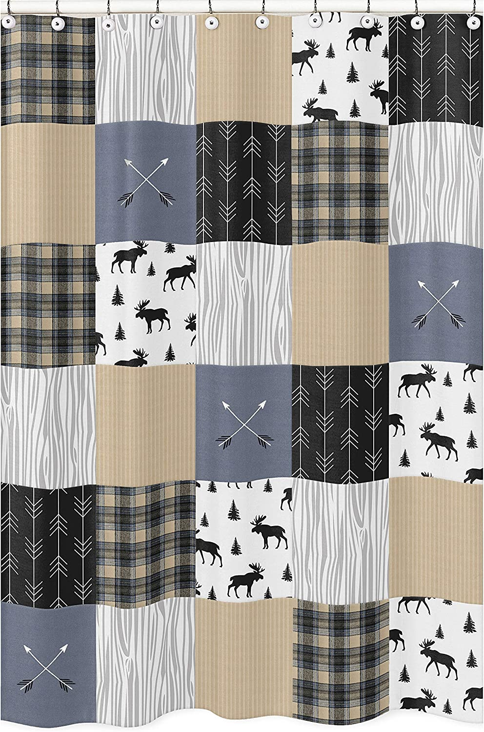 Sweet Free Shipping New Jojo Designs Blue Recommendation Tan and Plaid Grey Woodland Black