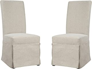 upholstered skirted parsons dining chairs
