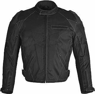 WICKED STOCK Men Motorcycle Four Season Black Textile Race Jacket CE Protection (XXL)
