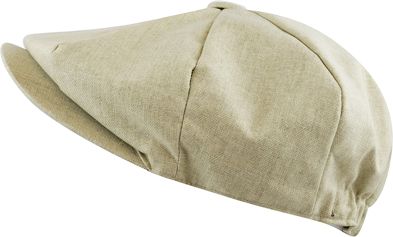 The Hat Depot Men's 2021 spring and summer new Linen Paisley Panel Gatsb Applejack Save money 8 Lining