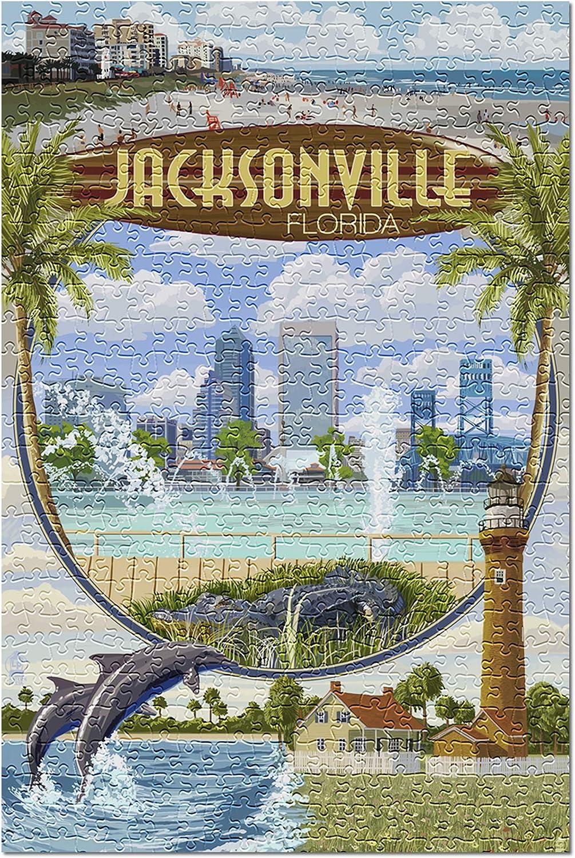 Jacksonville Florida Montage Scenes 37096 500 Piece Premium J Genuine Soldering