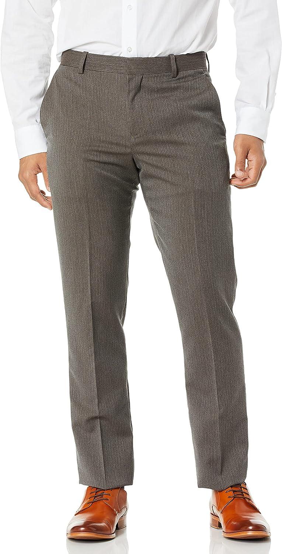 Perry Ellis Men's Slim 本店 Stretch Fit Stripe Pant 高価値