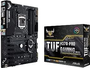 ASUS TUF H370-Pro Gaming (Wi-Fi) LGA1151 (300 Series) DDR4 DP HDMI DVI M.2 ATX Motherboard with Gigabit LAN and USB 3.1 Gen2 (TUF H370-Pro Gaming (WI-FI))