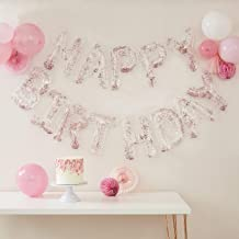 Ginger Ray Clear Foil & Confetti Happy Birthday Balloon Banner, Mix it Up