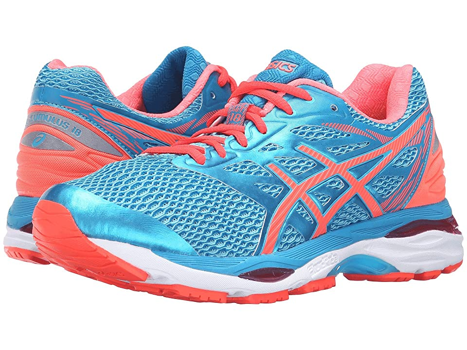 ASICS Gel-Cumulus(r) 18 (Aquarium/Flash Coral/Blue Jewel) Women