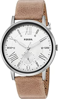 Fossil Women's Off White Dial Leather Band Watch - ES4162