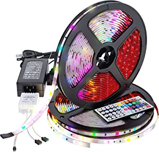 LED Strip Lights 32.8ft RGB Extra-Adhesive Tape for Professional Decoration Lighting Kit 300 LEDs Light with Remote, Flexible Changing Multi-Color Strips for Home, Kitchen, TV, Room