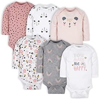 baby-girls 6-pack Long-sleeve Onesies Bodysuits