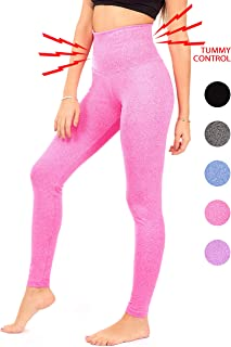 DEAR SPARKLE Thick High Waist Tummy Compression Slimming Support Leggings Pocket + Plus Size (S8)