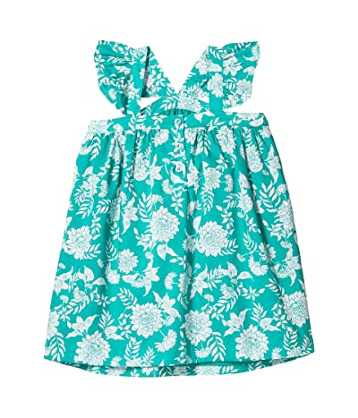 Janie and Jack Sleeveless Floral Dress (Toddler/Little Kids/Big Kids) (Green) Girl