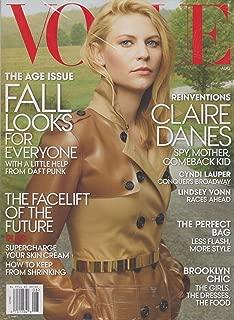 Vogue Magazine (August, 2013) Claire Danes Cover