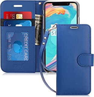 FYY Luxury PU Leather Wallet Case for iPhone Xs (5.8