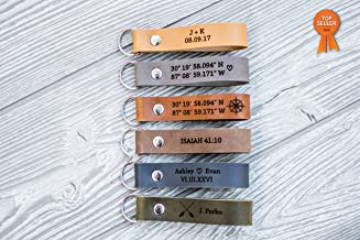 Best custom made leather keychains Reviews