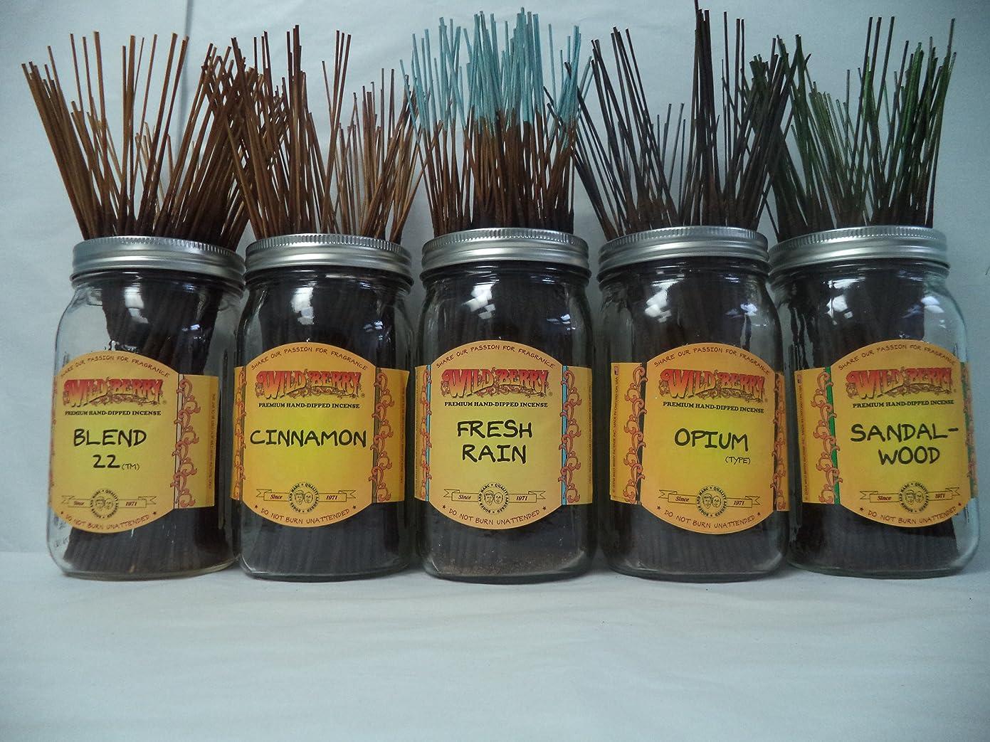 老人故障中独占Wildberry Incense Sticks Best Sellerセット# 3?: 10?Sticks各5の香り、合計50?Sticks 。