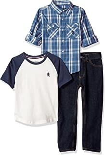 English Laundry Boys' Short Sleeve, T-Shirt and Pant Set (More Styles)