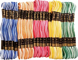 Anchor Double Shaded Cotton Cross/Long Stitched Embroidery Threads -Set of 25 Pieces