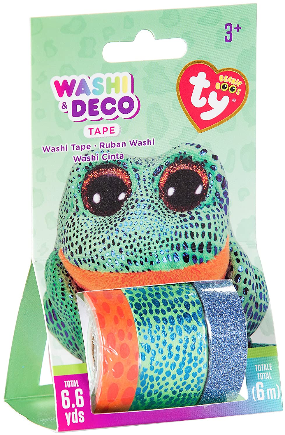 Darice TY Beanie Boo Speckles Sococles The Frog Washi Tape