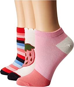 Strawberry 3-Pack No Show Socks