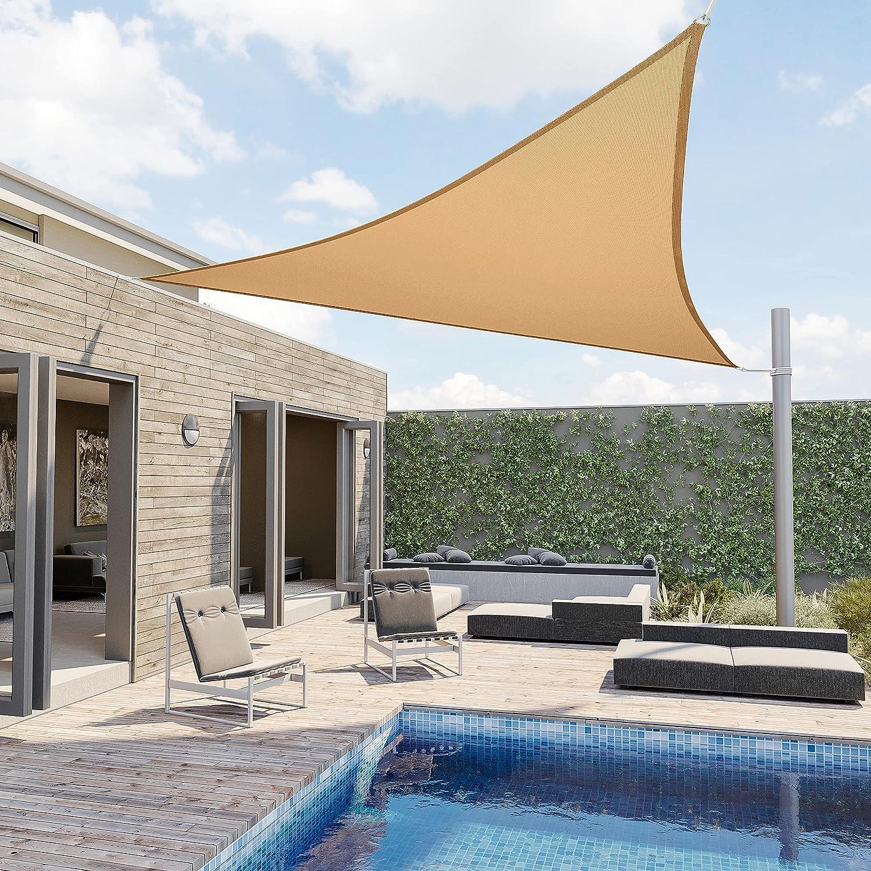 Pamapic 20' x Shade Sails Sun free Elegant Cano Triangle Sail