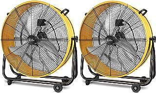 HealSmart 24 Inch Heavy Duty Metal Industrial Drum Fan, 3 Speed Air Circulation for Warehouse, Greenhouse, Workshop, Patio...