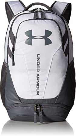 Under Armour Hustle 3.0 Backpack, White (100)/Graphite, One Size Fits All